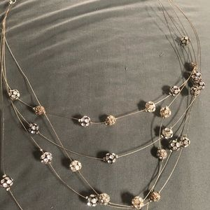 Chico's rhinestone bead necklace.